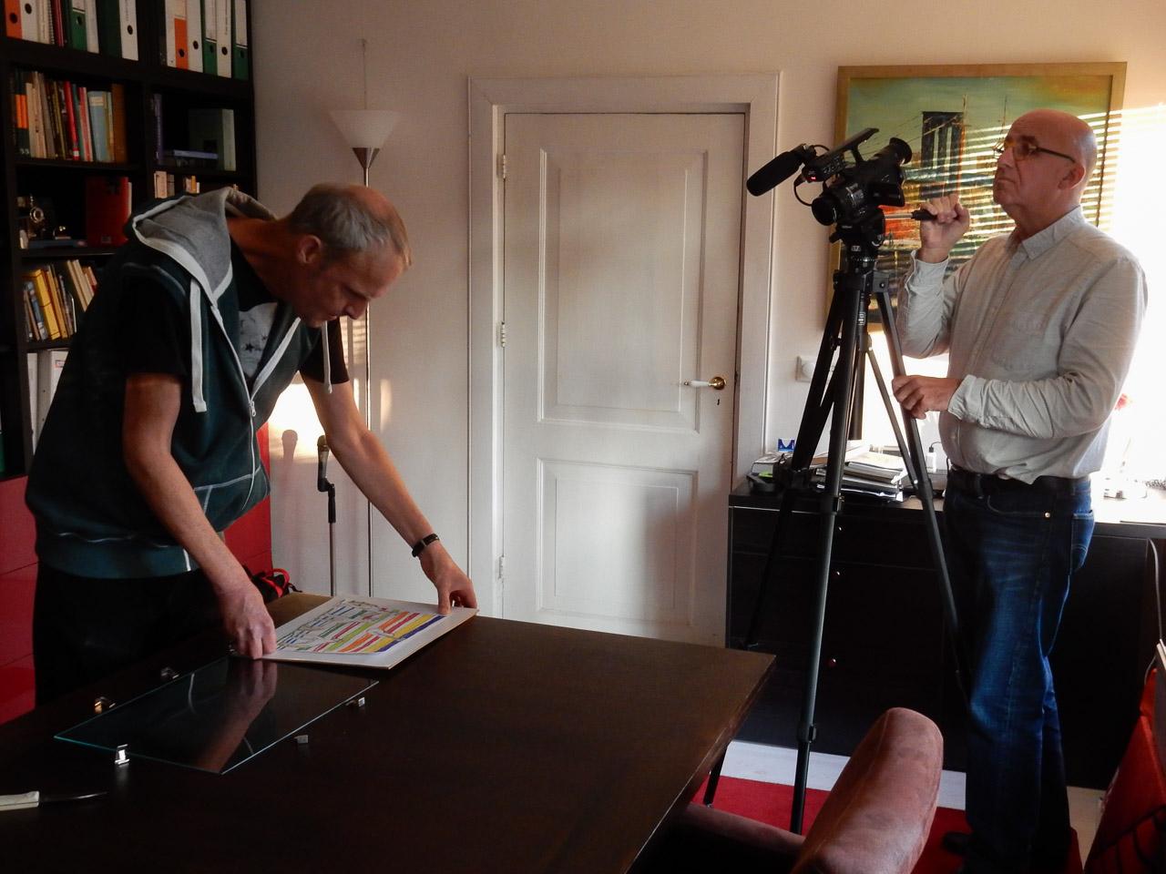 Pieter filmt Maarten